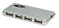 HUB USB 2.0  4 portowy zewnętrzny  Manhattan Slim  + zasilacz
